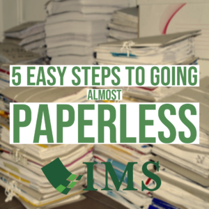 Five Easy Steps to Going Almost Paperless